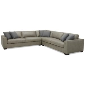 """Chelby 3-Pc. Leather """"L"""" Shaped Sectional Sofa"""