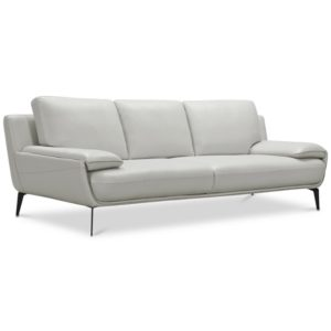 """Closeout! Surat 97"""" Leather Sofa, Created for Macy's"""
