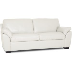 """Lothan 79"""" Leather Apartment Sofa with 2 Cushions, Created for Macy's"""