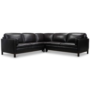 """Virton 3-Pc. Leather """"L"""" Sectional Sofa, Created for Macy's"""