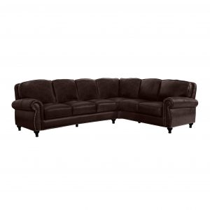 Abbyson Hobson Top Grain Leather Sectional