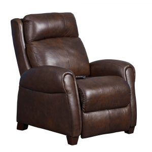 Saturn Zero Gravity Brown Leather Transitional Power Recliner