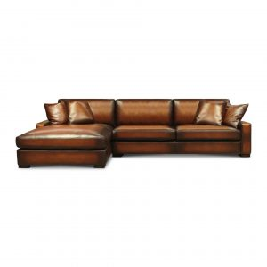 Urban Cowboy Deluxe Top Grain Artisan Leather Sectional