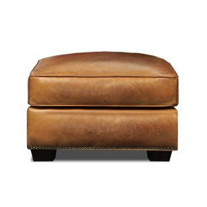 Valencia Top Grain Hand Antiqued Leather Traditional Ottoman