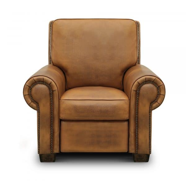 Valencia Top Grain Hand Antiqued Leather Traditional Recliner