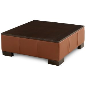 """Darrium 36"""" Leather Ottoman, Created for Macy's"""